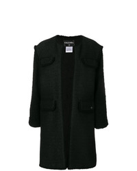 Chanel Vintage Frayed Open Coat