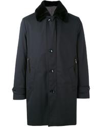 Brioni Fur Trimmed Coat