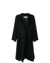 Yves Saint Laurent Vintage Gathered Ruffled Midi Coat