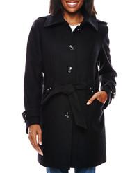 Liz Claiborne Hooded Wool Blend Coat