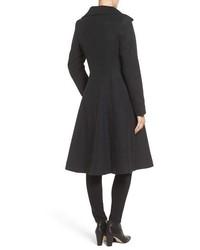 Vera Wang Isabella Skirted Wool Blend Coat