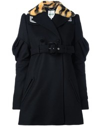 Kenzo Piped Logo Double Breasted Coat