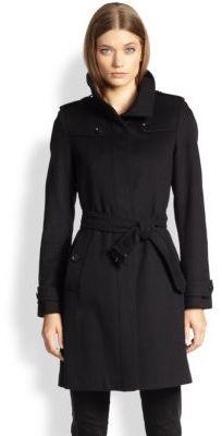 Burberry London Basingstoke Wool Cashmere Coat | Where to buy ...