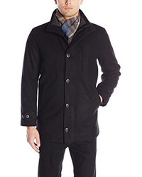 London Fog Antone Fitted Car Coat With Scarf