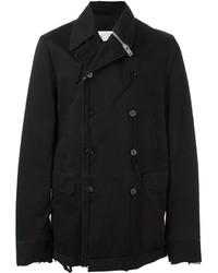 Maison Margiela Zip Detail Buttoned Coat