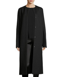The Row Malma Single Breasted Long Coat Black