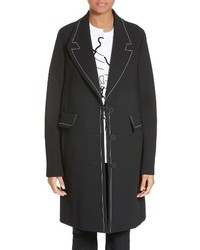 Stella McCartney Marcelline Topstitch Double Face Wool Coat