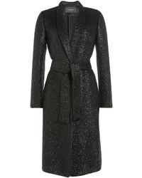 Cédric Charlier Metallic Wool Coat