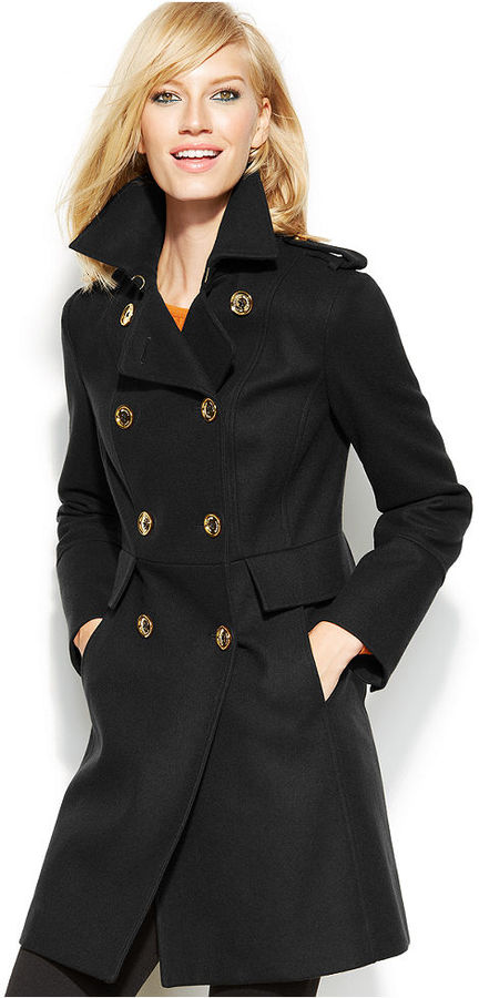 193d4bea85076 ... MICHAEL Michael Kors Michl Michl Kors Double Breasted Pea Coat ...