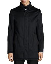 Neiman Marcus New Solferino Cashmere Car Coat Black