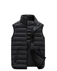 Feicuan Plus Size Zipper Cotton Vest Sleeveless Waistcoat Jacket