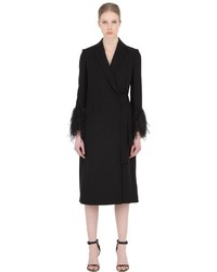 Salvatore Ferragamo Feathered Double Wool Crepe Coat