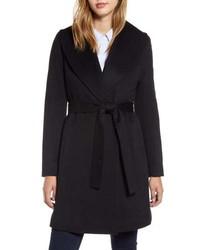 Fleurette Shawl Collar Cashmere Wrap Coat