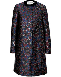 Mary Katrantzou Silk Blend Jacquard A Line Coat