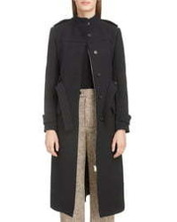 Chloé Stand Collar Wool Blend Coat
