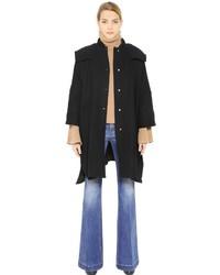 Stella McCartney Hooded Melton Wool Coat