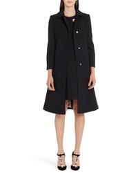 Dolce & Gabbana Stretch Wool Crepe Coat