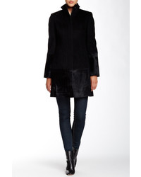 Dawn Levy Sydney Wool Genuine Calf Hair Coat