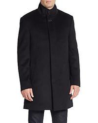 Saks Fifth Avenue Trim Fit Wool Blend Coat