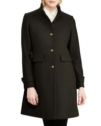 Lauren Ralph Lauren Twill Stand Collar Coat