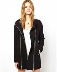 Vila Double Zip Coat Black