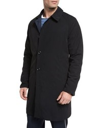 Vince Water Resistant Reversible Macintosh Coat Blacknavy