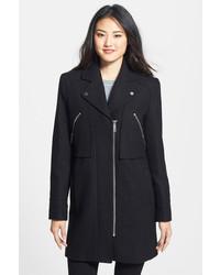 Kenneth Cole New York Wool Blend Twill Walking Coat