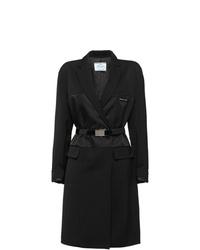 Prada Wool Satin Nylon Gabardine Coat