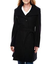 Worthington Worthington Funnel Neck Wool Blend Coat Tall