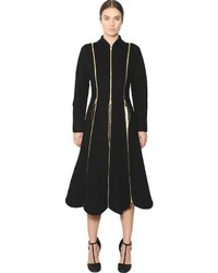 Salvatore Ferragamo Zippered Double Wool Cashmere Coat