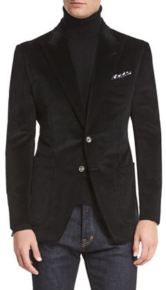 Tom Ford Oconnor Base Corduroy Sport Jacket Black | Where to buy ...