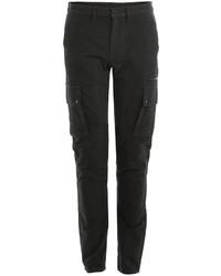 Black Corduroy Cargo Pants