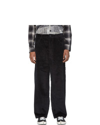 Goodfight Black Cord Letter Trousers