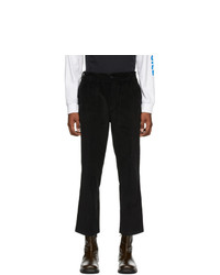 Noah NYC Black Corduroy Adjustable Work Trousers