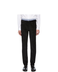 Ps By Paul Smith Black Corduroy Five Pocket Trousers