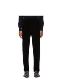 Ermenegildo Zegna Black Corduroy Modern Fit Trousers