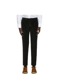 Dolce and Gabbana Black Corduroy Trousers