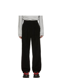 Raf Simons Black Corduroy Wide Fit Trousers