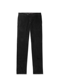 Canali Black Cotton Blend Corduroy Trousers