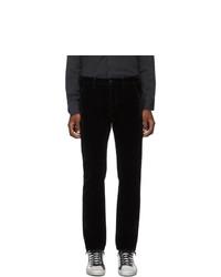 Nudie Jeans Black Denim And Velvet Adam Trousers