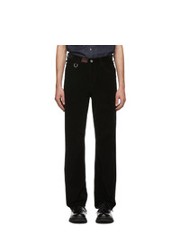Raf Simons Black Heroes And Losers Relaxed Fit Trousers