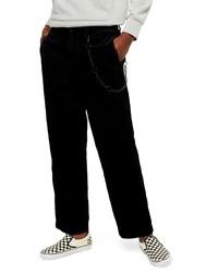 Topman Wide Leg Corduroy Trousers