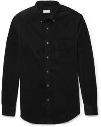Black Corduroy Long Sleeve Shirt