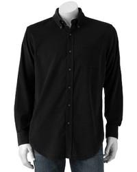 Croft Barrow Solid Corduroy Casual Button Down Shirt Big Tall