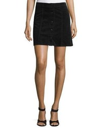 Joie Tilda Snap Front Corduroy Mini Skirt