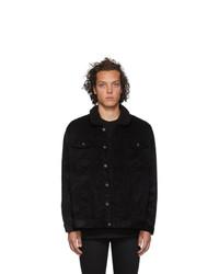Naked and Famous Denim Black Corduroy Oversized Sherpa Jacket