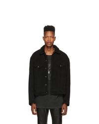 R13 Black Corduroy Reed Oversized Jacket
