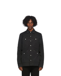Rick Owens Black Four Pocket Outershirt Jacket