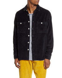 WAX LONDON Whiting Button Up Corduroy Overshirt