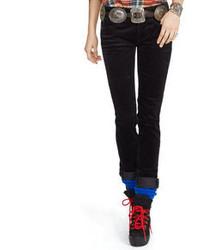 Black Corduroy Skinny Jeans